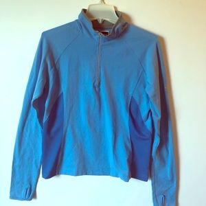 THE NORTH FACE Quarter Zip Blue Athletic TOP L